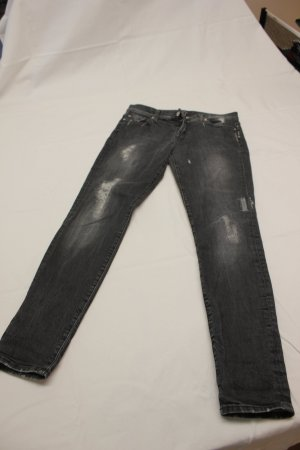 7 For All Mankind Skinny jeans grijs Katoen