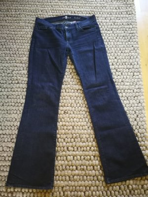 7 For All Mankind Jeans a zampa d'elefante blu scuro