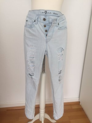 Jeans - 7 for All Mankind Loane Bleach Authentic Destroyed Straight Jeans