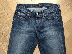 Jeans 7 FOR ALL MANKIND Straight Leg Mittelblau. Größe 27. Klassisch, gut sitzend