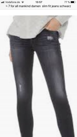 7 For All Mankind Vaquero skinny gris oscuro