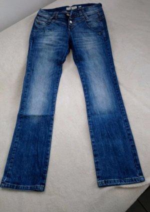 Mogul Jeans a zampa d'elefante blu-blu acciaio
