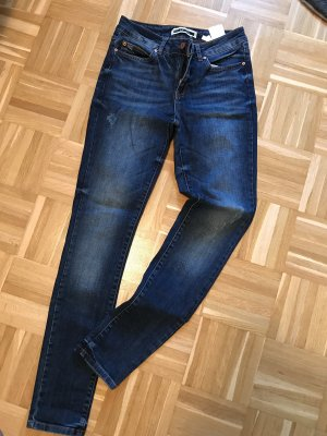 Noisy May Hoge taille jeans donkerblauw-blauw