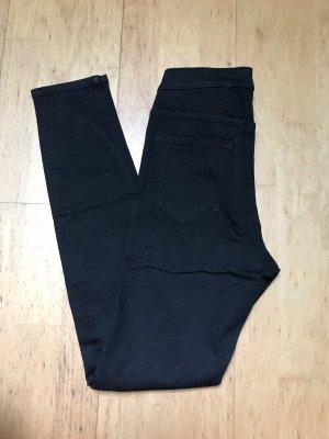 H&M Jeans taille haute noir-argenté