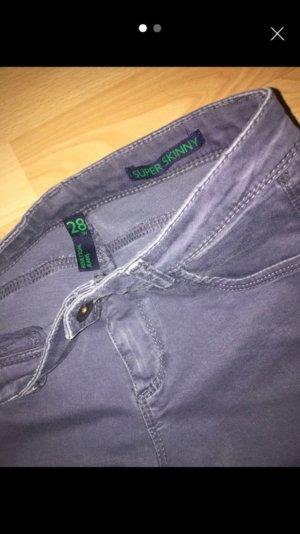 Benetton Jeans Spijkerbroek leigrijs-lichtblauw