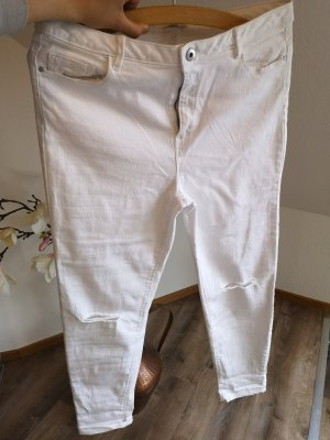 Jeans a 3/4 bianco