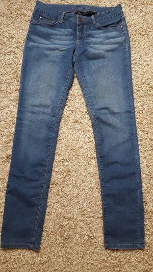 Hallhuber Low Rise Jeans neon blue mixture fibre