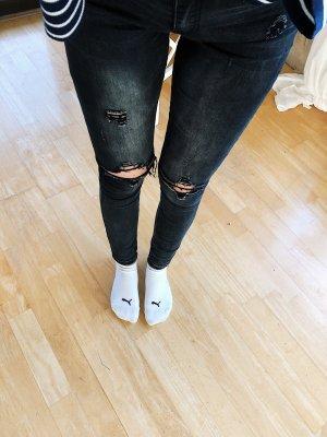 Colloseum Pantalon cigarette noir-gris