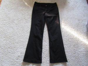 Vaquero de corte bota negro tejido mezclado