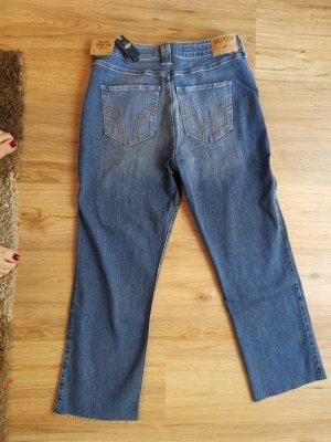 Hollister Pantalon taille haute bleu acier