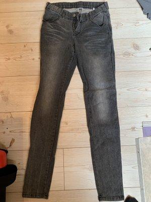 Dr. Denim Jeans cigarette gris-noir