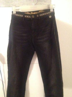 Desigual Skinny jeans zwart Katoen