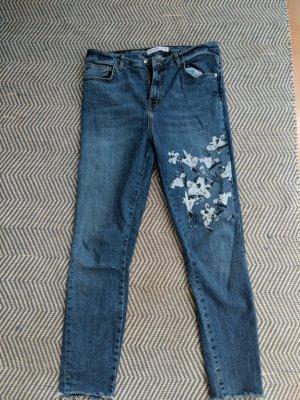 Zara Basic Spijkerbroek blauw