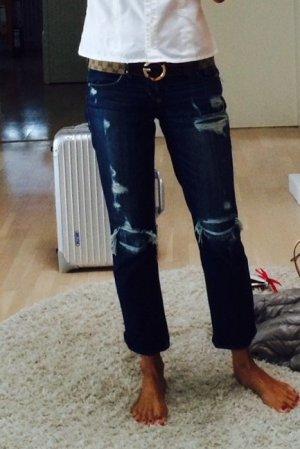 Abercrombie & Fitch 7/8-jeans blauw Katoen