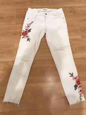 Toxik3 Jeans a 7/8 bianco