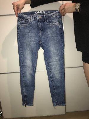 Only Jeans a vita alta blu