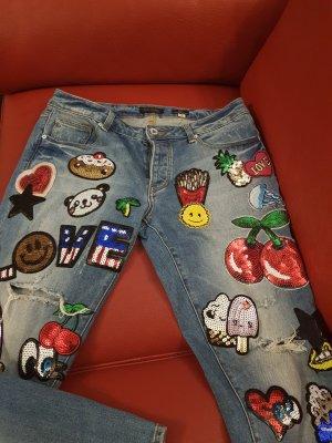 Fracomina Jeans a 7/8 azzurro