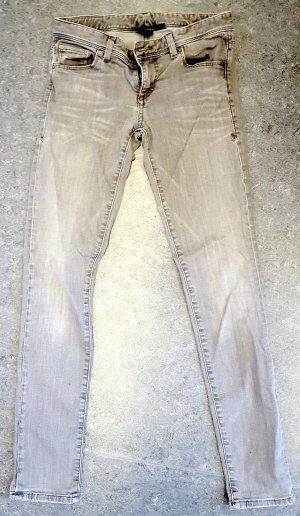 Armani Exchange Tube Jeans silver-colored cotton