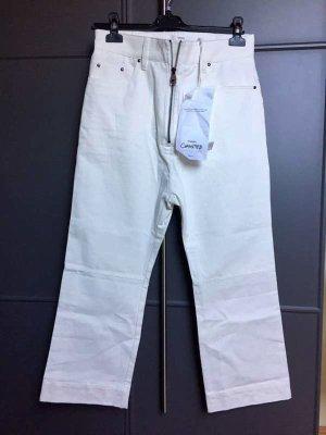 Mango Hoge taille jeans wolwit Katoen