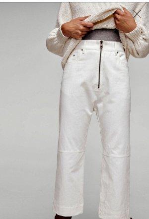 Mango Jeans taille haute blanc-blanc cassé