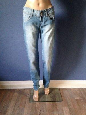 Mango Jeans bleu azur coton