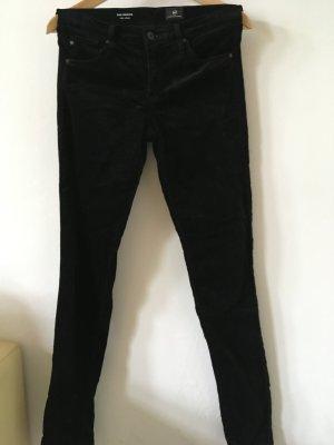 Jeans aus schwarzem Samt von Adriano Goldschmied