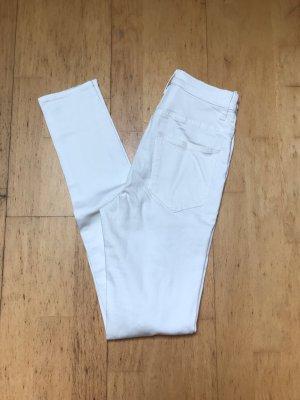 H&M Jeans taille haute blanc