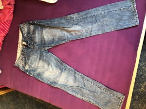 Stretch Jeans cornflower blue-steel blue