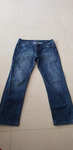 Christian Berg 7/8-jeans donkerblauw Katoen