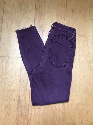 Abercrombie & Fitch Hoge taille jeans bordeaux