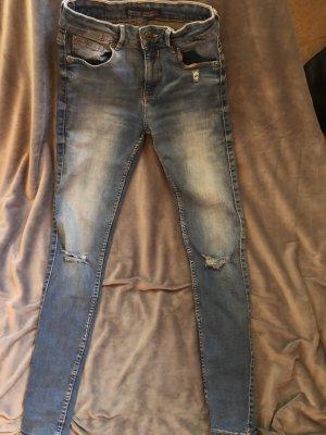 Bershka Tube Jeans blue