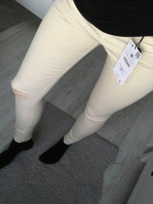 Jeans Bershka creme weiß