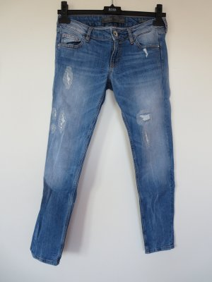 "Jeans ""Beverly-Skinny"" denim W28 Used Look Strass"