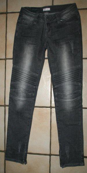 Jeans Biker Skinny grau von Orsay Gr. 36/38