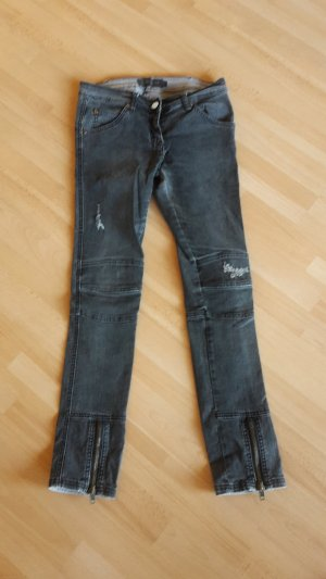 Jeans Bikerjeans Destroyed Stretch
