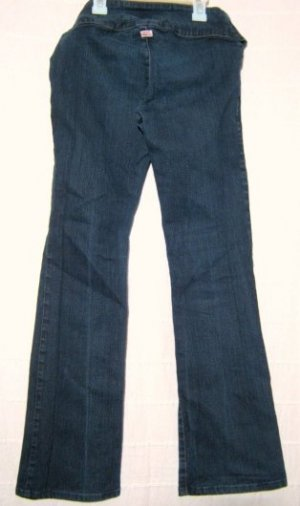 Jeans Blau Basic Italy Hüft Hose Sexy Gürtel Größe 34 Stretch