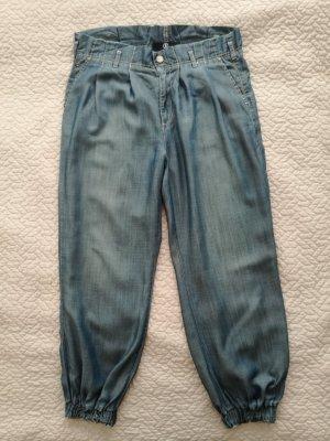 Jeans blau Bogner Gr. 38 100% Lyocell inkl. Stoffgürtel Paperbag