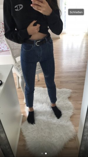Asos High Waist Jeans dark blue