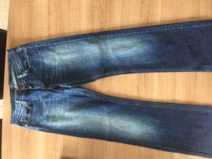 Jeans blau - gerade - Gr. 38/32