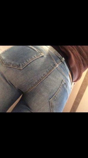 Jeans blau Waschung skinny