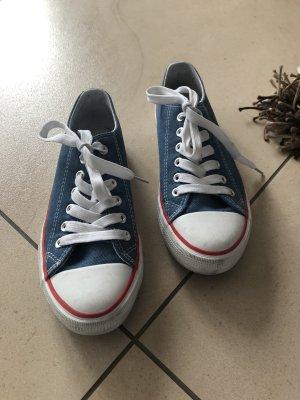 Jeans-Blaue Sneaker der Marke Victory in der Größe 37