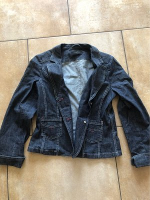 Oui Set Denim Blazer blue
