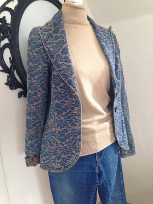 H&M Denim Blazer sand brown-blue