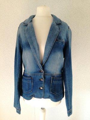 Jeans Blazer Jacke Jeansjacke Tailliert Jeansblazer