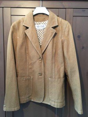 MaxMara Weekend Blazer en jean chameau-doré coton