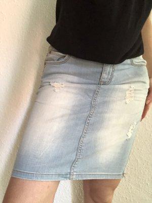 Jeans Bleistiftrock Destroyed Look