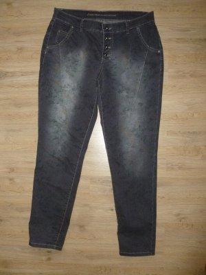 Jeans Blumen blau grau Anna Montana