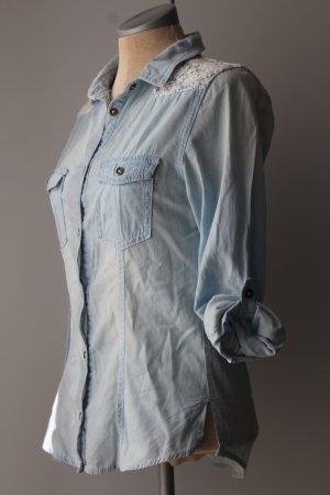 Jeans Bluse 100%Baumwolle Gr. 34