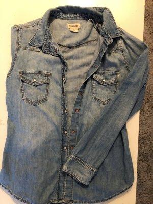 H&M Blouse en jean bleu azur