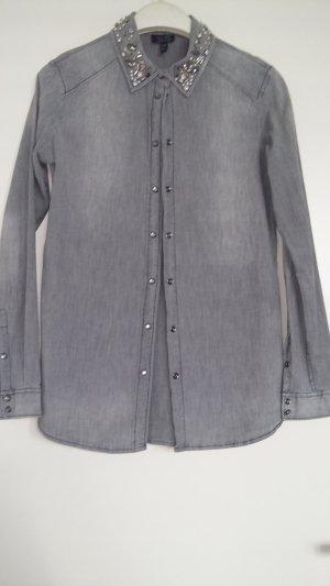 Armani Jeans Jeans blouse grijs Katoen